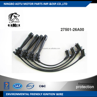 High voltage silicone Ignition wire set, ignition cable kit, spark plug wire 27501-26A00 for Hyundai