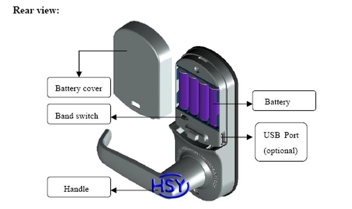 Touch screen zinc alloy fingerprint door lock with for 1 touch door lock