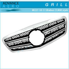 FOR 2010-2011 MERCEDES-BENZ S CLASS W221 BRABUS CL800 STYLE BLACK CHROME ABS FRONT HOOD GRILL GRILLE