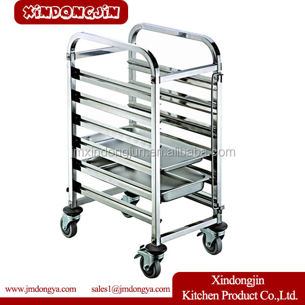 TR-6D stainless steel kitchen Bread Oven Baking Trolley
