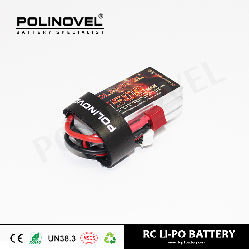 Rechargeable 7.4v 1500mAh 2cell 25C rc battery lipo battery