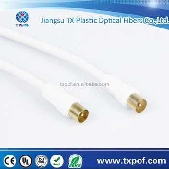 White Jacket HDTV Coaxial cable straight male to straight female coaxial cable