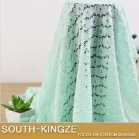 (Lot)Flower Embroidery Hollow Nylon Elastic Lace Fabric women Dress DIY