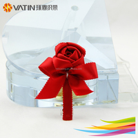 Unique Ribbon Rose Flower Hair Barrettes