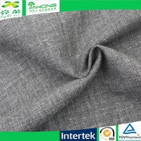 cotton plain chambray flax linen fabric for shiting