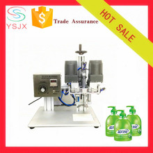 unique desktop liquid soap shampoo capping and sealing machines for sale