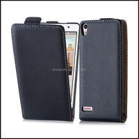 Magnetic Genuine Real Flip Leather Case Wallet Cover for Huawei Ascend P6