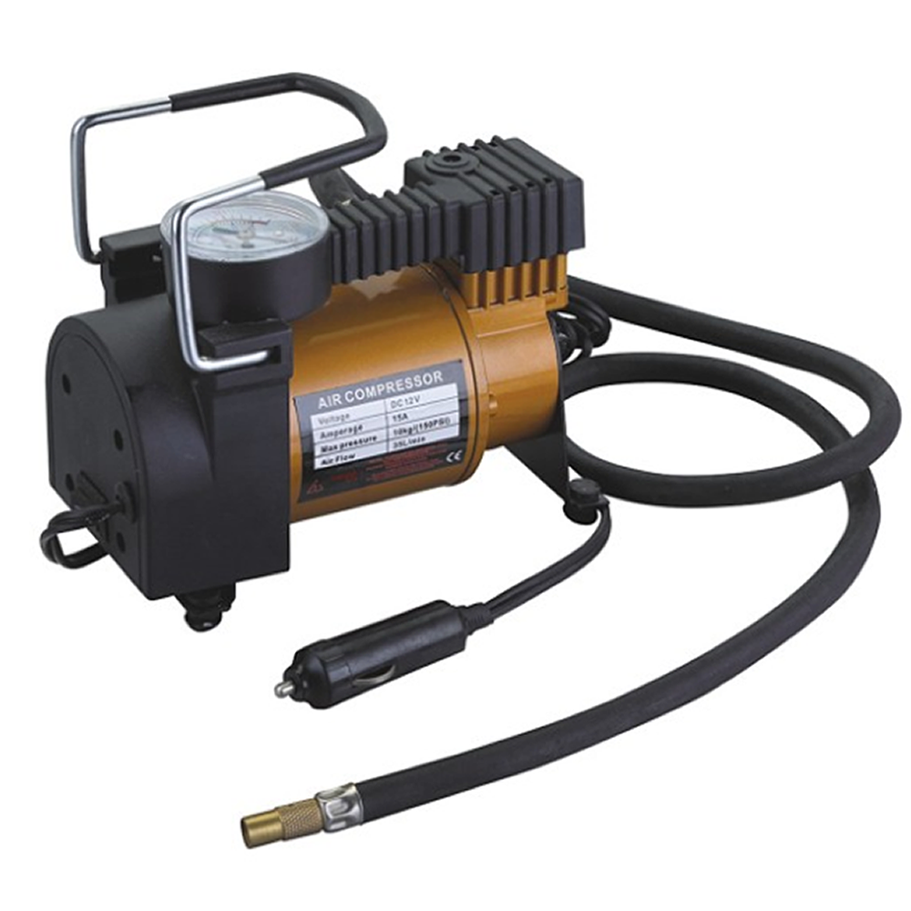 portable dc 12v mini car air compressor for car tyre inflator