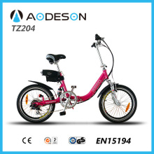 Top Seller Folding E-Bike TZ204 with silent motor for powerful and flexible pedal assistance in all circumstances