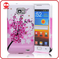 New Fantasy Plum Flower Stylish TPU Skin Gel Cover Case for Samsung Galaxy S2 i9100