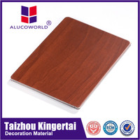 Alucoworld China leading flexible decoration acp aluminium plastic composite panel wood 2mm/acp sheet