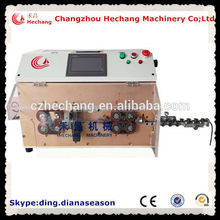 HC-608z double flat sheath dual flat wire cut and strip machine cable stripping machine reel for earphone