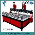 cnc multi spindle 4 axis/rotary engraving machine for 3d woodworking