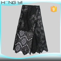 Factory price fashion dress lace fabric PU lace fabric for evening dress, garment dress