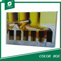 COLORFUL PACKAGING BOX FOR 6 BEER BOTTLES CARRIER