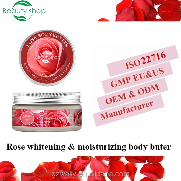 private label rose whitening& moisturizing body butter