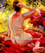 High quality impressionist lady oil painting