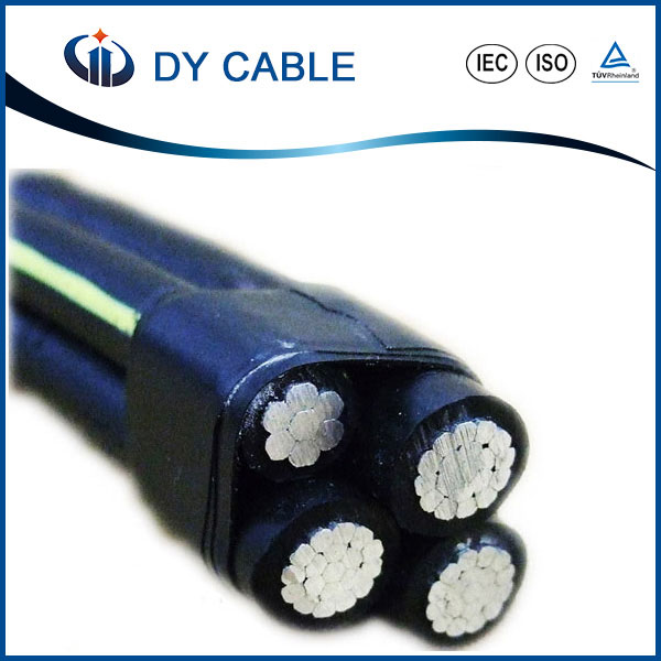 Overhead Aluminum Conductor 35mm2 XLPE Insulated ABC Cable / aerial bundle cable