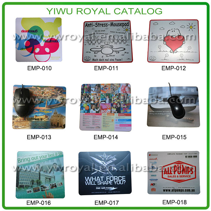 Custom Logo Printed Hard PVC Surface Best Mouse Mat