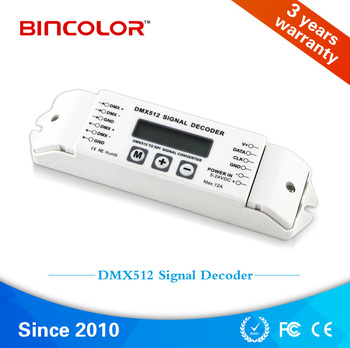 LCD display BC-820 disco light led dmx decoder WS2812b DC5V DC24V