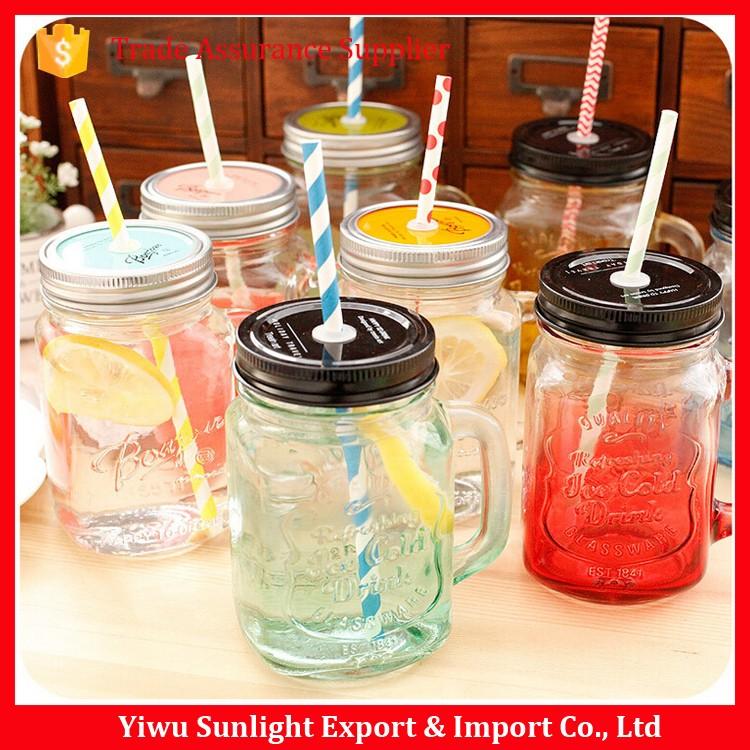 wholesale 16oz with straw lid custom glass mason jars buy mason jars custom mason jars. Black Bedroom Furniture Sets. Home Design Ideas