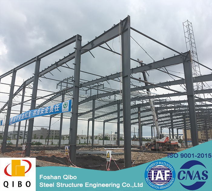 QIBO OEM available prefab industrial shed/warehouse/building