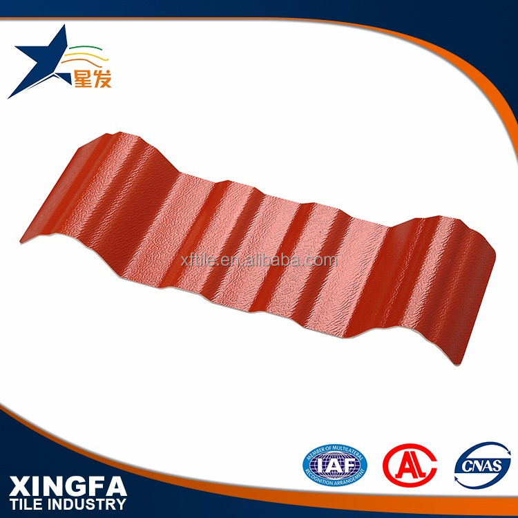 Fire resistance light weight pvc plastic roofing shingle