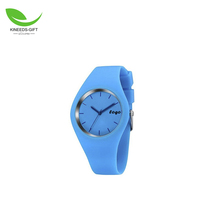 Hot sell Promotional Gift OEM costom Water proof lady geneva silicone jelly wrist watch