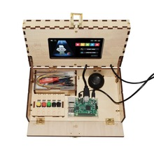 Educational WIFI Downloadable Wooden Case Toy Computer Kit for Kids