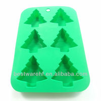 Silicone Flexible Cupcake Muffin Molds Baking Pans Christmas Tree Snowman Icicle