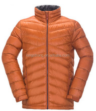 LS-199 Customized urban mens 100%Nylon breathable duck down jacket