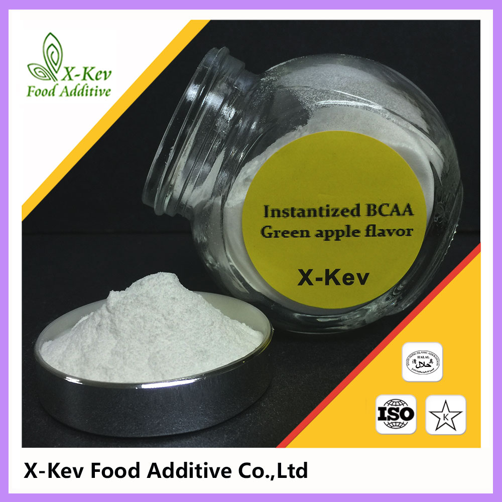 [25kg/drum] Best bulk unflavored/green apple flavor instantized powder bcaa 2:1:1