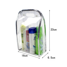 Sewing PVC Plastic Shampoo Packaging Bag With Snap Button And Handle