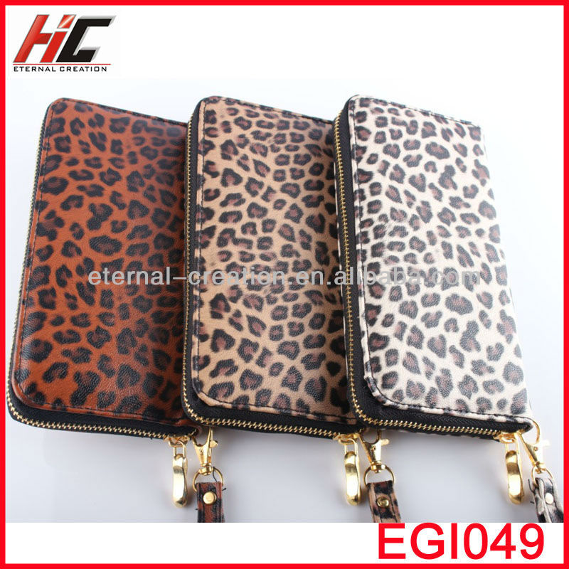 New Products 2013 Fashion Design Your Own Women Wallet,Fashional Leopard Print Wallets Ladies