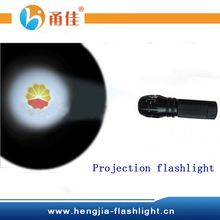 Projection torch flashlight light with LOGO projector 3 mode function