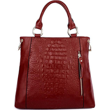 Winter woman bag genuine leather bag ladies crocodile skin handbag EMG4388