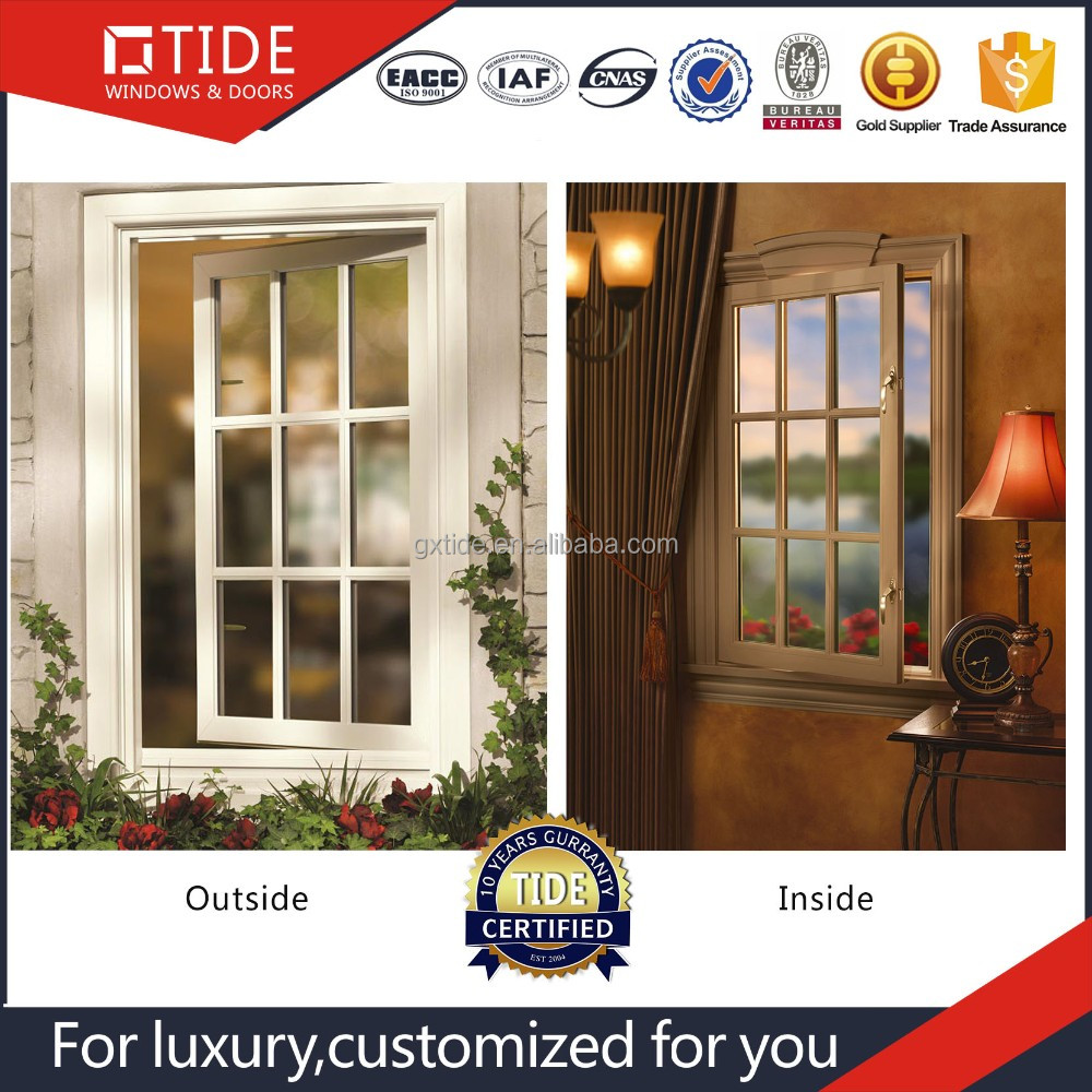 Best Quality <strong>Aluminum</strong> profile Grill Design Casement Window for America Marketing
