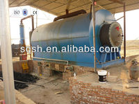 waste tyre recycling machine with high oil yield by Shangqiu Sihai