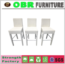 Outdoor Rattan Bar Stool white bar chair