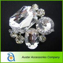 Fashion clear crystal rhinestone shoe clips for lady shoes
