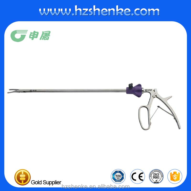5mm/10mm polymer ligation clip applier for laparoscopic surgical from China Gold supplier