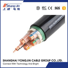 XLPE insulated irradiated low smoke free halogen flame retardant alarm armored cable