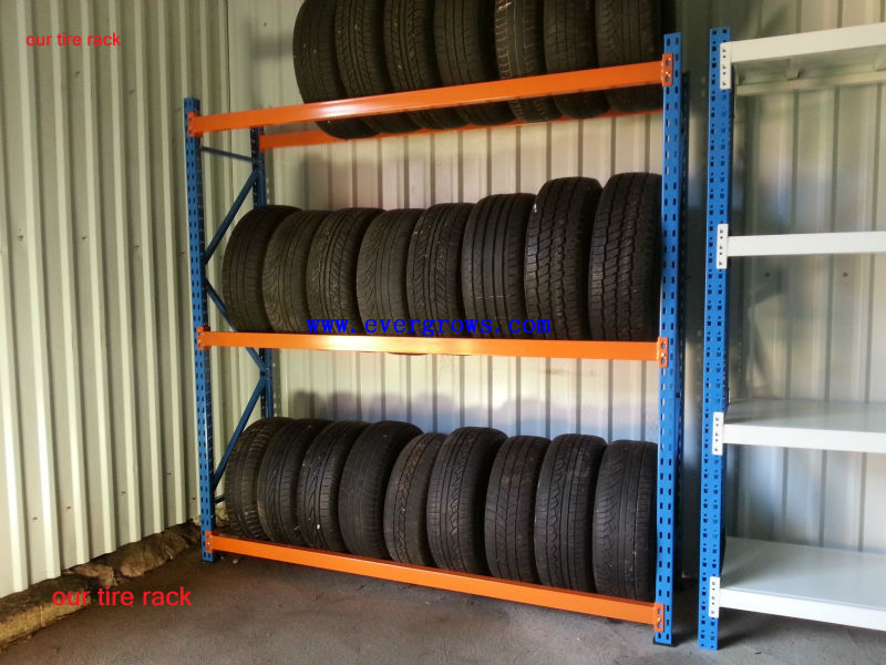 reliable for auto parts commercial tire rack for car