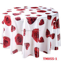 Wholesale Cheap Plastic Oilproof Printed PVC Clear Round table cloths