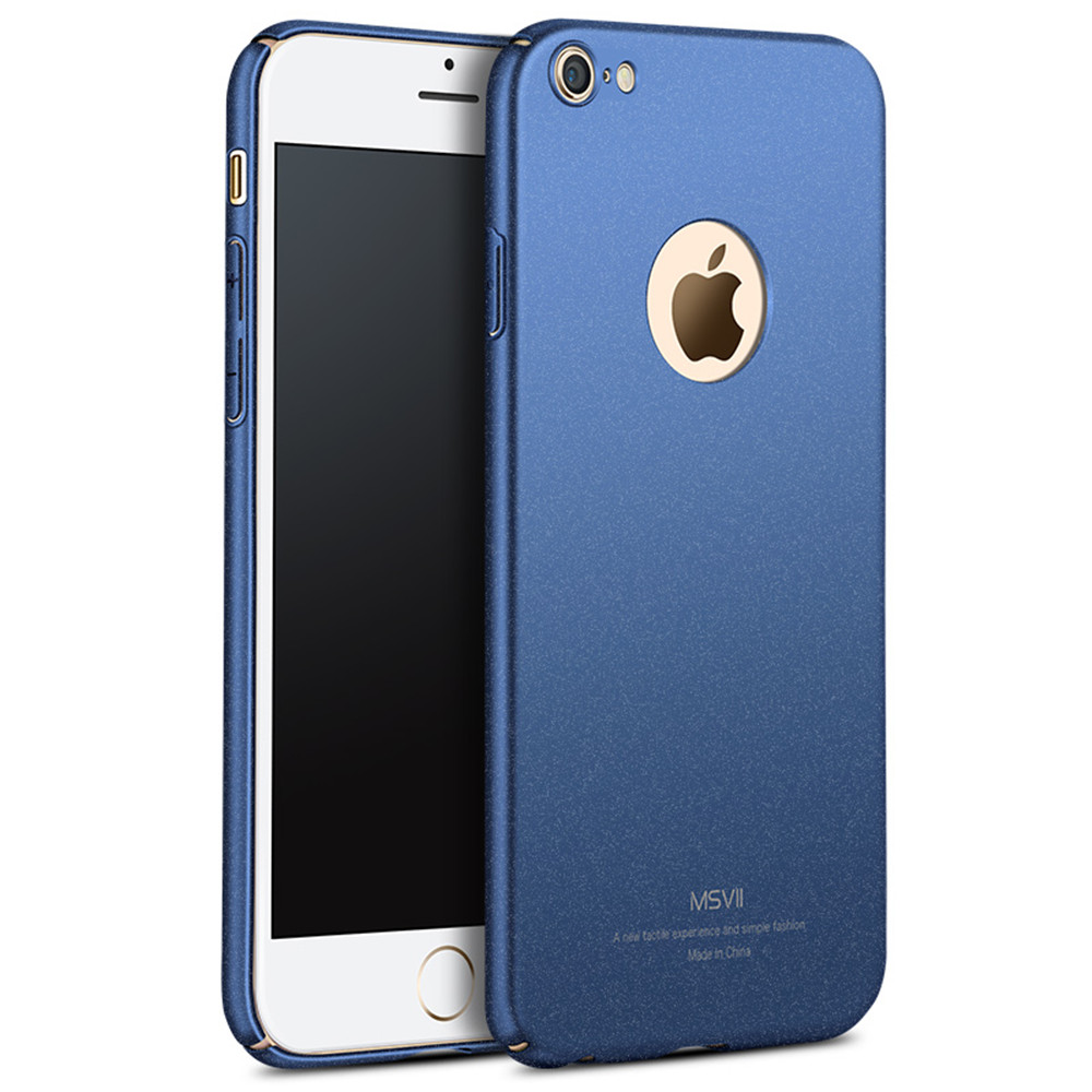 New Arrival MSVII Colorful PC Fashioable Simple Matter Sandstone Style Fitted Phone Shell Case for Apple iPhone 6 6S