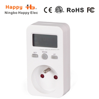 france Energy Electricity Usage Watt Calculator Monitor Plug-in Power Consumption LED digital power Electrical Power Meter