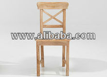 limewash Teak Wood Dining chair
