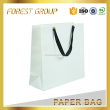 High-ends kraft paper cement bag white packaging shopping bag with handle