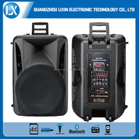 portable trolley speaker with FM radio with wireless microphone