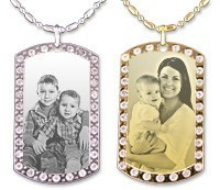 Fashion Laser Engraved Military Dog Tags on Chain
